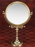 真鍮製・卓上鏡・スタンドミラー「g-6g7070k2」