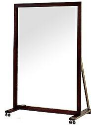 業務用(プロ仕様)姿見・鏡:ジャンボミラー・ダークブラウン