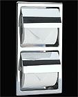 機能性トイレ ペーパー ホルダー・トイレット ペーパー ホルダー(タテ 2連 埋込型)