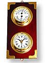 「温湿度計」付き「掛時計、掛け時計、壁掛け時計:g-7g1021k5