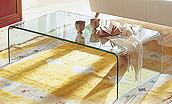 ガラステーブル、センター・テーブル、リビング・テーブル、ロー・テーブル:EaC-1r01