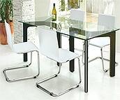 ガラス・テーブル、オフィステーブル、会議机、ダイニングテーブル:MaS-9r+椅子EaR-2r01参考写真