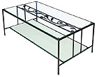 ガラステーブル、センター・テーブル、リビング・テーブル、ロー・テーブル:NaA-2r03