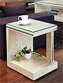 ガラス・テーブル、リビングテーブル、コーヒーテーブル、サイドテーブル:MaS-1r1参考写真