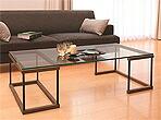 ガラステーブル、センター・テーブル、リビング・テーブル、ロー・テーブル:NaA-2r06