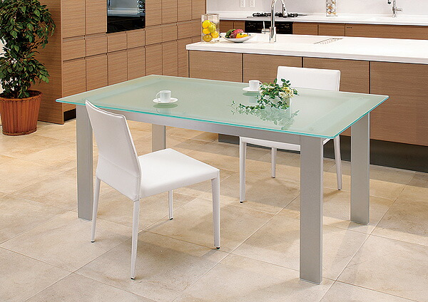ガラス・テーブル、オフィステーブル、会議机、コーヒーテーブル、ダイニングテーブル 「シルバー(AR-KaT-8r)」参考写真