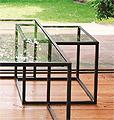 ガラス・テーブル、リビングテーブル、コーヒーテーブル、サイドテーブル