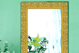 ゴールド色の姿見・姿見鏡・ミラー