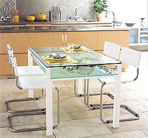 ガラスのテーブル、オフィステーブル、会議机、ダイニングテーブル