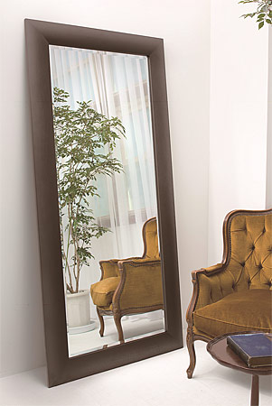 立てかけ 立て掛け式の大型 ラージサイズの姿見 姿見鏡 全身鏡