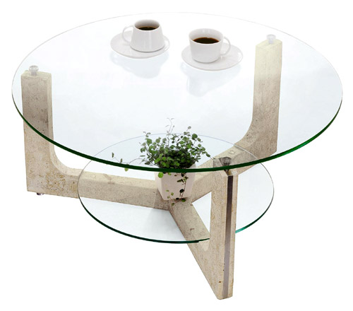 ガラス・テーブル、リビングテーブル、センターテーブル、コーヒーテーブル、ローテーブル「AR-MaS-1r」