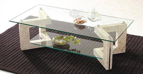ガラス・テーブル、リビングテーブル、センターテーブル、コーヒーテーブル、ローテーブル「LVTAR-MaS-2r」
