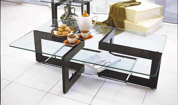 ガラス・テーブル、リビングテーブル、センターテーブル、コーヒーテーブル、ローテーブル「AR-YaG-6r4」
