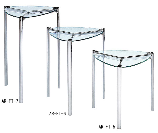 ガラス・テーブル、リビングテーブル、コーヒーテーブル、サイドテーブル「GRTAR-FT-5」
