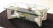 ガラス・テーブル、リビングテーブル、センターテーブル、コーヒーテーブル、ローテーブル「AR-MS-2」