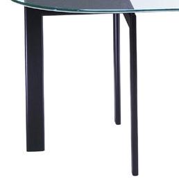 ガラス・テーブル「 ブラック(YT-01)」