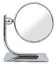 卓上鏡・スタンドミラー・メーキャップミラー・化粧鏡:99136CR(両面鏡、片面拡大鏡 3倍率)
