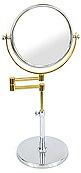 卓上鏡・スタンドミラー・メーキャップミラー・化粧鏡:99137CR/GD(両面鏡、片面拡大鏡 3倍率)