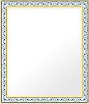 鏡・ミラー・壁掛け鏡・ウォールミラー:4011wb-w373mmxh475mmxd34mm-se