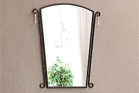 壁掛け鏡・ウォールミラー:ロートアイアン(錬鉄)