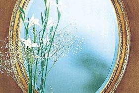 壁掛け鏡・ウォールミラー:円形・楕円形の鏡