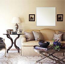 上下2方フレーム 壁掛け鏡・ウオールミラー:ステンフレーム・シリーズ(国産)