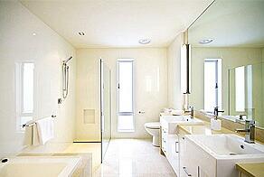 バスルームに設置された鏡