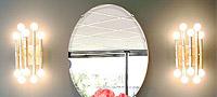 壁掛け鏡、ウォールミラー、姿見、姿見鏡、円形、楕円形、八角形