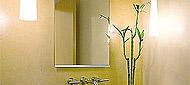 防湿鏡、洗面鏡、風呂鏡、四角形、、上下フレーム