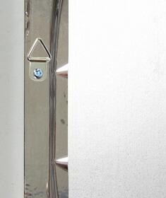 割れない鏡・リフェクス・リフェクスミラー(壁掛け鏡・ウオールミラー・姿見)裏面写真