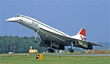 ブリティッシュ・エアロスペース社が開発したコンコルド