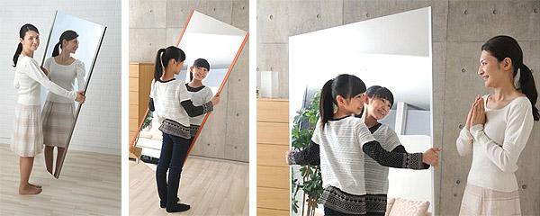 割れない鏡 リフェクス リフェクス ミラーの重さは通常の鏡の6分の一