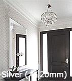 シルバー ストライプ・フレーム(幅20mm) 割れない鏡 リフェクス リフェクスミラー