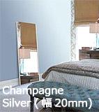 シャンペンシルバー ストライプ・フレーム(幅20mm) 割れない鏡 リフェクス リフェクスミラー