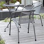 壁付けポストガーデン・エクステリア用テーブル&イス(メタル、金属)