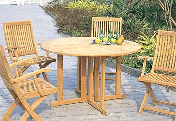 ガーデン・テーブル&イス(木・天然木)