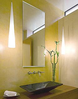 洗面鏡・トイレ鏡・化粧鏡・浴室鏡・バスミラー(国産)ステンフレーム・シリーズ 上下2方フレーム