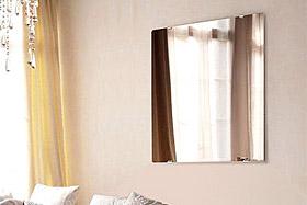 壁掛け鏡・ウォールミラー:クリスタルミラー・シリーズ 標準タイプ
