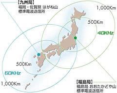 電波時計 電波の受信範囲について