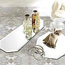 鏡のトレイ:宝石トレイ、香水トレイやディスプレイトレイとしてご利用下さい