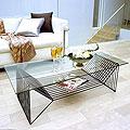 ガラス・テーブル、リビングテーブル、センターテーブル、コーヒーテーブル、ローテーブル「AR-YaG-5r6」