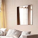 フレームレスミラー:ガラスの魅力である透明感が際立つフレームレスミラー(フレームの無い商品です)