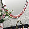 有田焼(伊万里焼)の壁掛け鏡・ウォールミラー