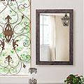 ブラウン色の壁掛け鏡・ウォールミラー