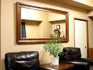 アンティークスタイルの超特大の姿見・鏡・ミラー(立て掛け式)参考写真