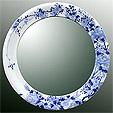 鏡・ミラー・壁掛け鏡・ウォールミラー:yt-w400h400-2.5k-tr