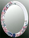 鏡・ミラー・壁掛け鏡・ウォールミラー:yt-w400h400-2.5k-sa参考写真
