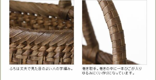 極細ひごのやまくるみ籠(ひご幅約3〜5mm/定番型/中サイズ)