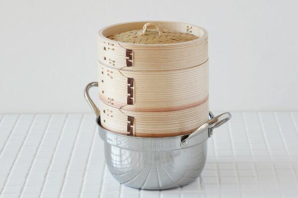 杉 中華せいろ 15.5cm ステンレス鍋セット