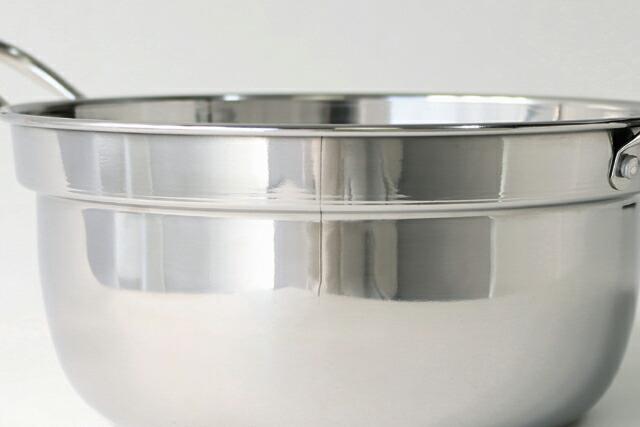 竹 中華せいろ 21cm(外径)ステンレス鍋セット【IH対応鍋・本体2・ふた1】